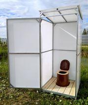 Изображение Туалет дачный Импласт-Престиж. Доставка Бесплатная.