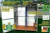 Изображение Сверхпрочный летний душ Импласт-Премиум (с тамбуром и без тамбура)  NEW.Доставка по всей РБ.